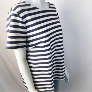 BANANA REPUBLIC FACTORY Blue Striped Top